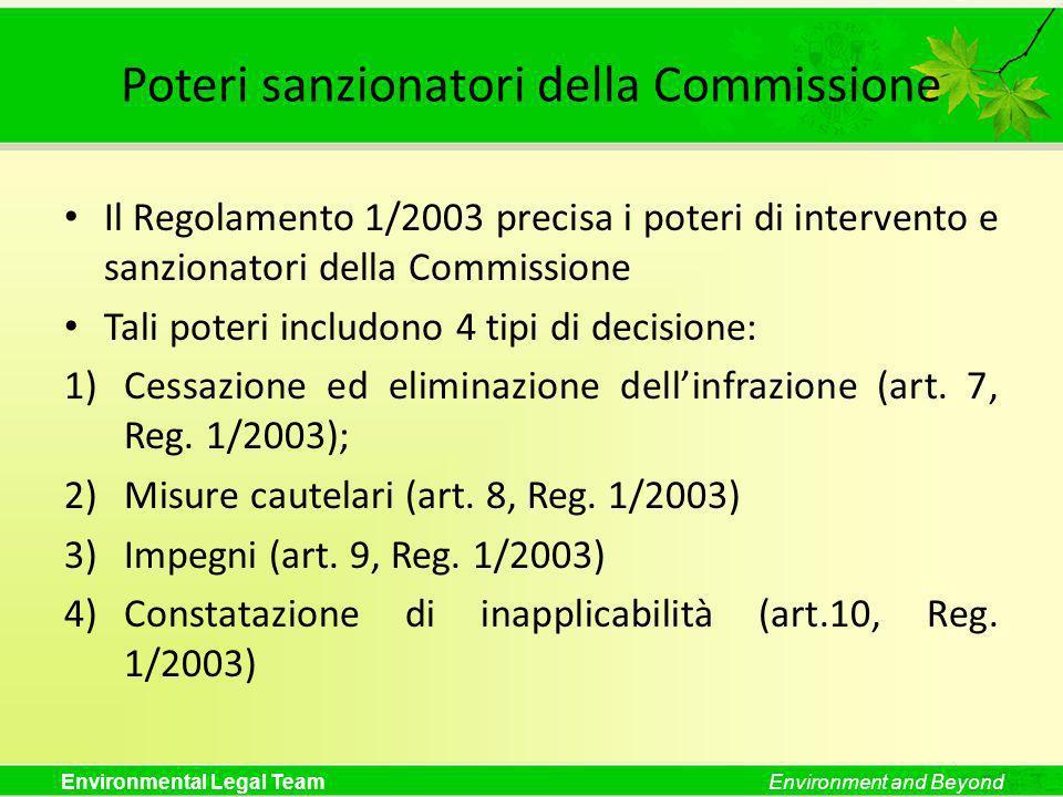 Poteri sanzionatori della Commissione