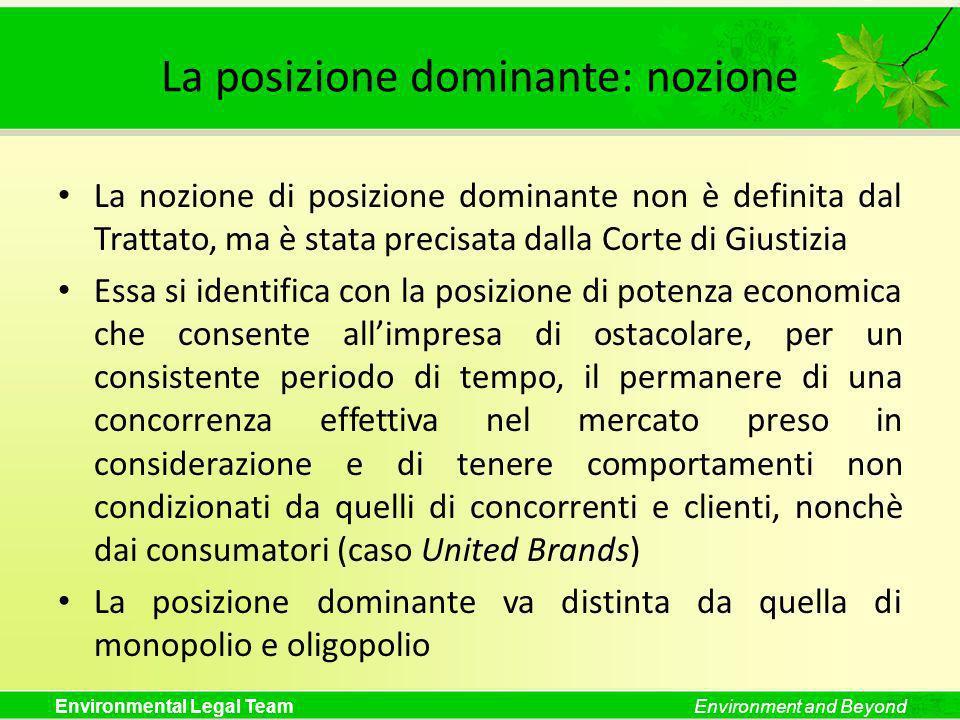 La posizione dominante: nozione