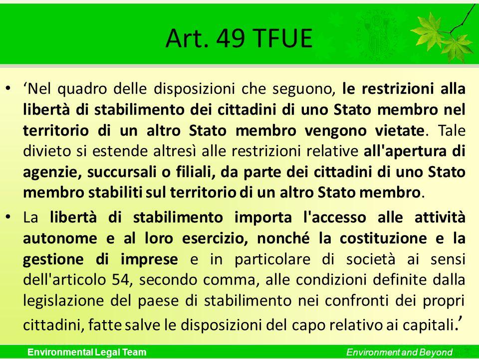 Art. 49 TFUE