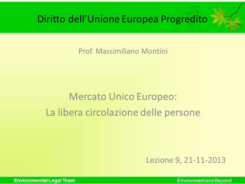 Diritto dell'Unione Europea Progredito