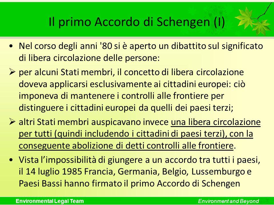 Il primo Accordo di Schengen (I)