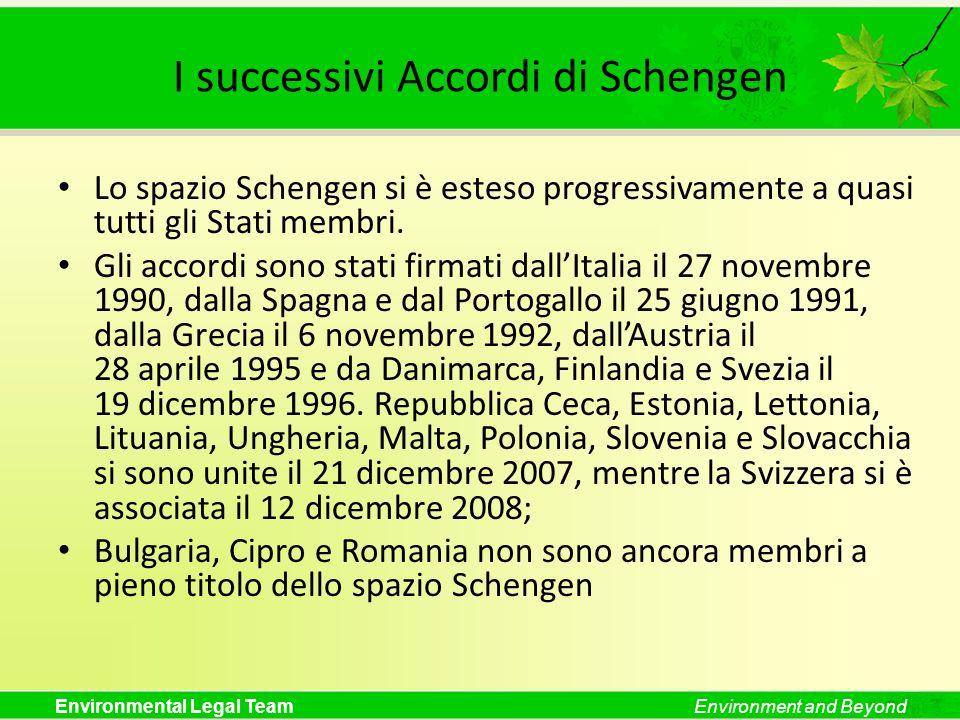 I successivi Accordi di Schengen