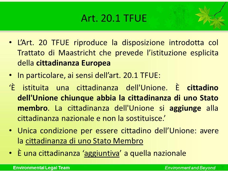 Art. 20.1 TFUE