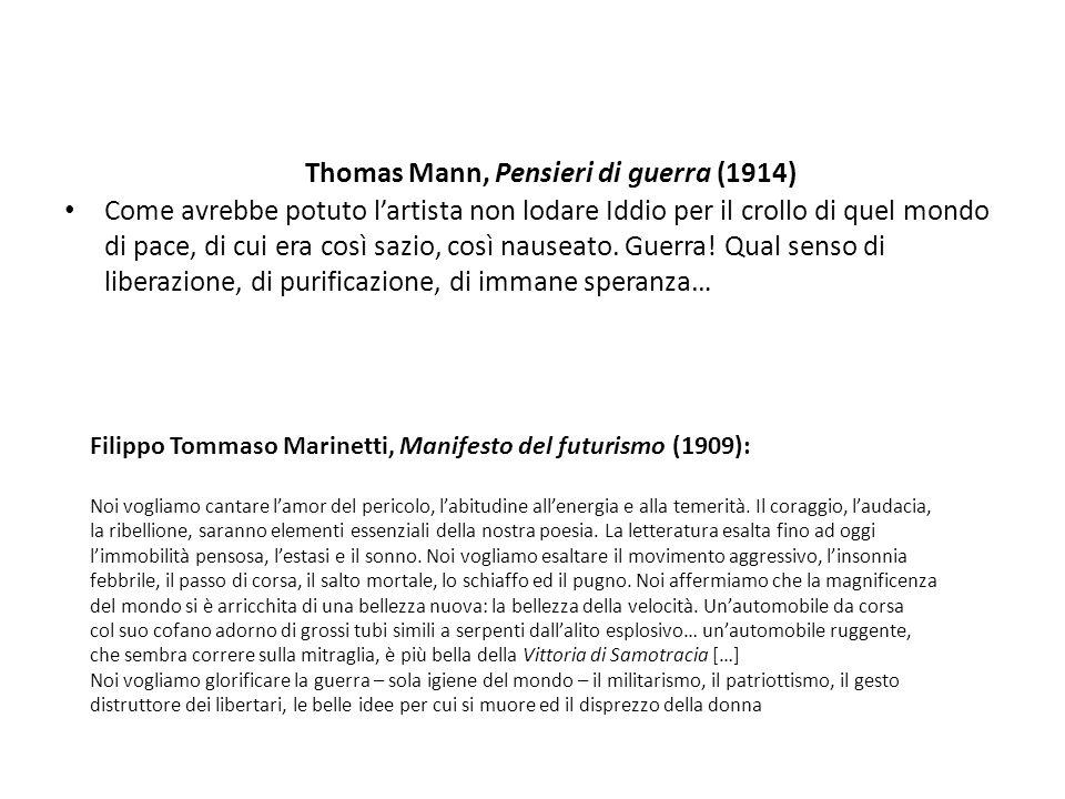 Thomas Mann, Pensieri di guerra (1914)