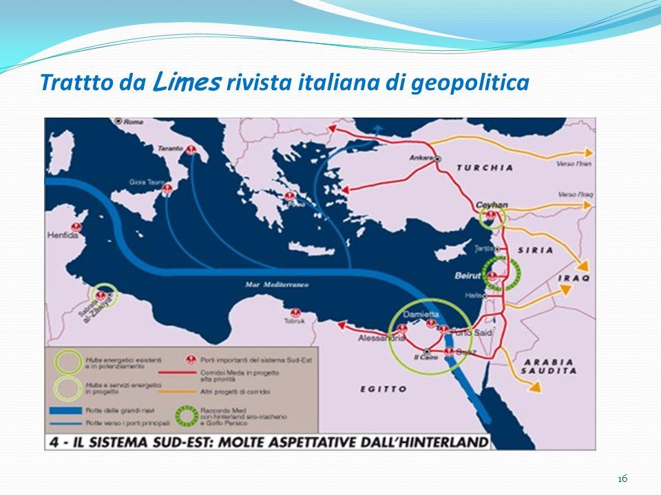 Trattto da Limes rivista italiana di geopolitica