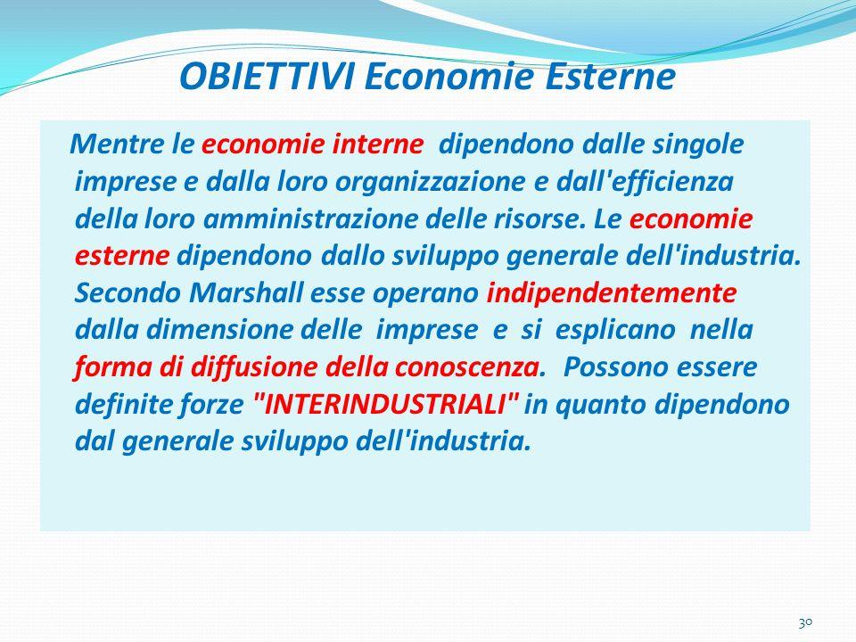 OBIETTIVI Economie Esterne