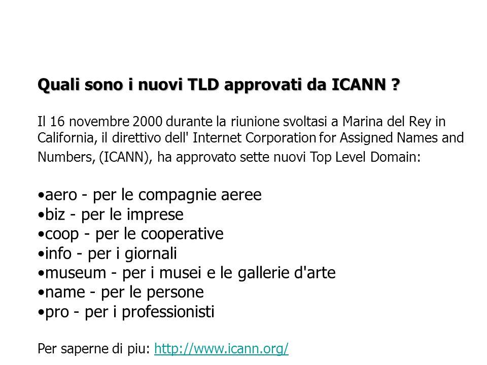 Quali sono i nuovi TLD approvati da ICANN