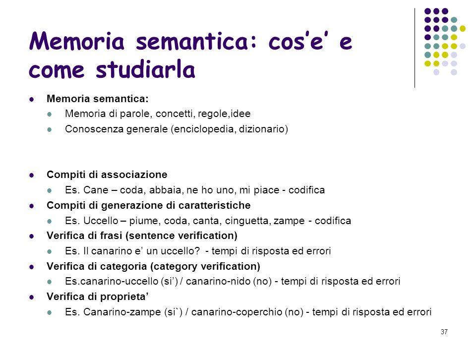 Memoria semantica: cos'e' e come studiarla
