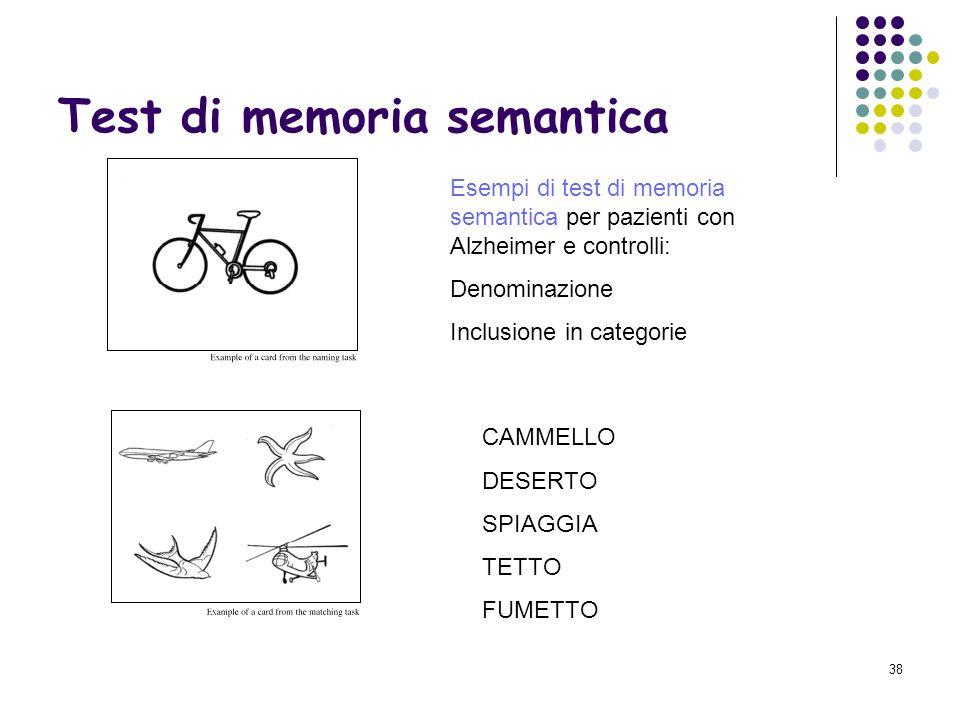 Test di memoria semantica