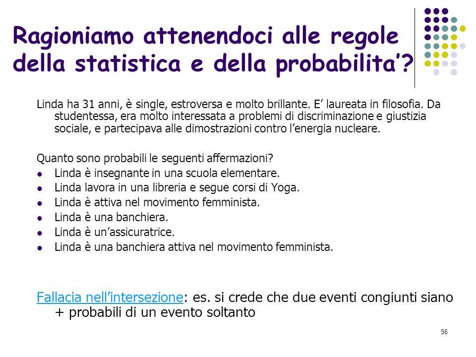 Ragioniamo attenendoci alle regole della statistica e della probabilita'