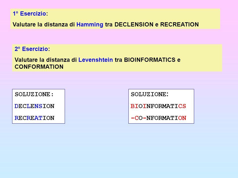 SOLUZIONE: DECLENSION RECREATION SOLUZIONE: BIOINFORMATICS