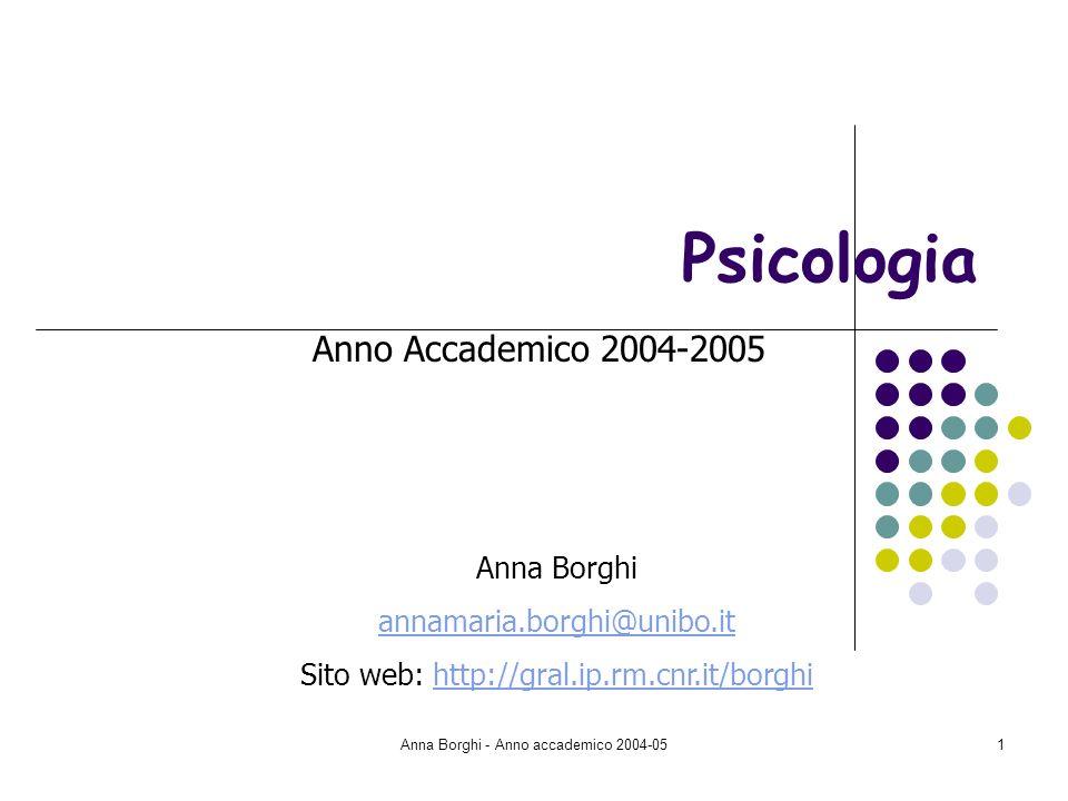 Psicologia Anno Accademico 2004-2005 Anna Borghi