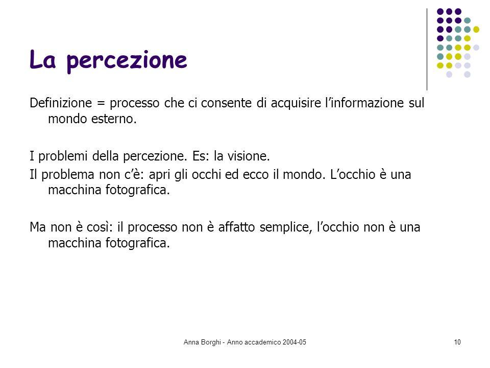 Anna Borghi - Anno accademico 2004-05