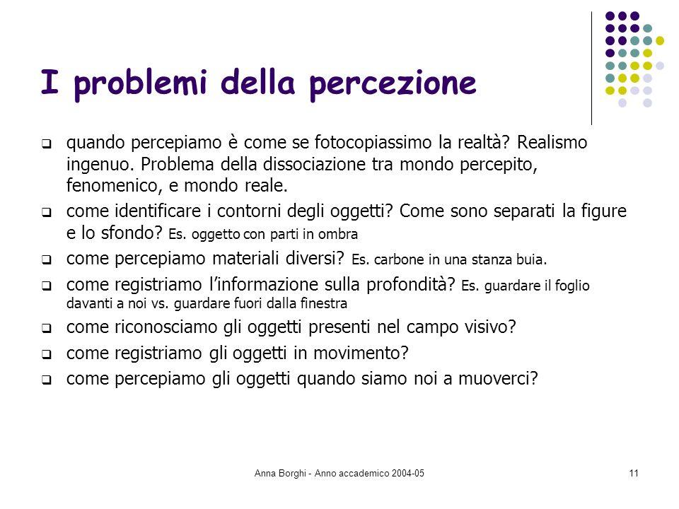 I problemi della percezione