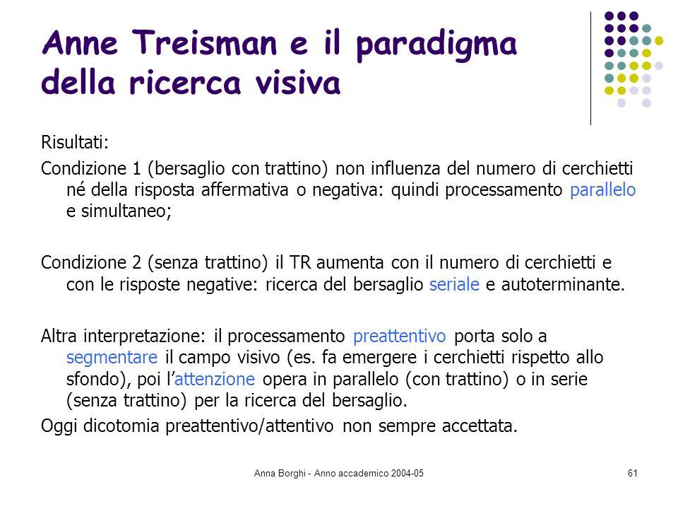Anne Treisman e il paradigma della ricerca visiva