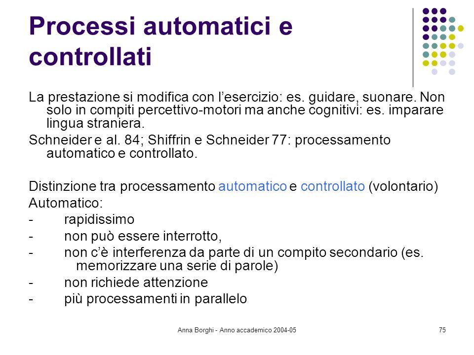 Processi automatici e controllati