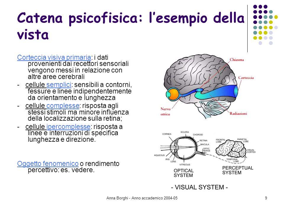 Catena psicofisica: l'esempio della vista