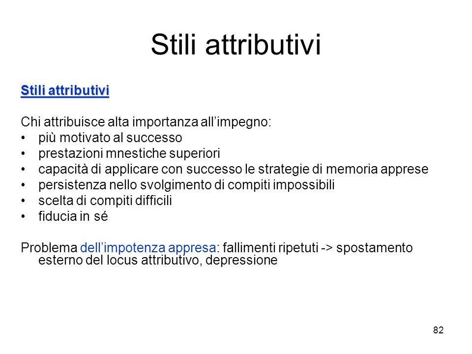 Stili attributivi Stili attributivi