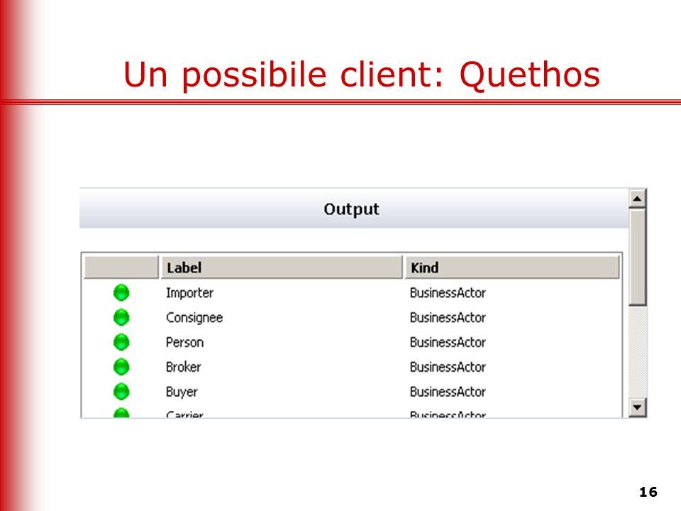 Un possibile client: Quethos