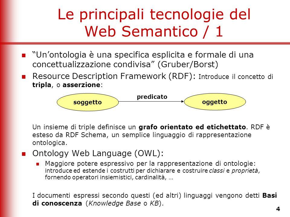 Le principali tecnologie del Web Semantico / 1