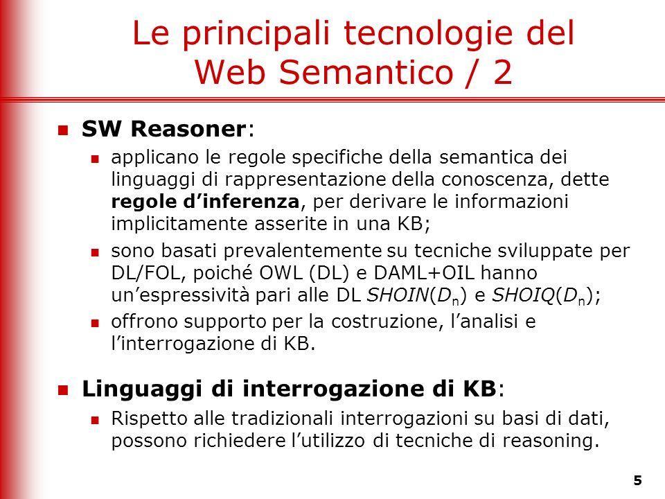 Le principali tecnologie del Web Semantico / 2