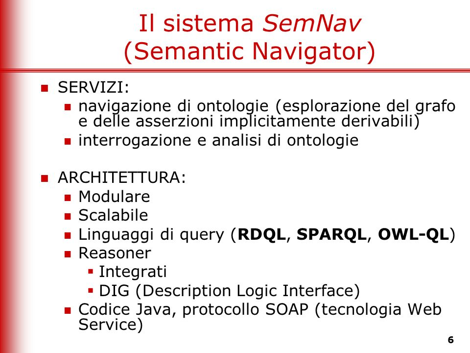 Il sistema SemNav (Semantic Navigator)