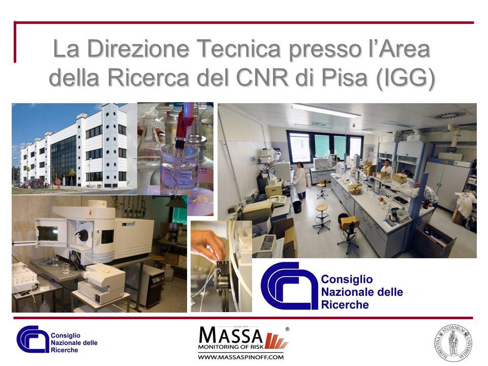 La Direzione Tecnica presso l'Area della Ricerca del CNR di Pisa (IGG)