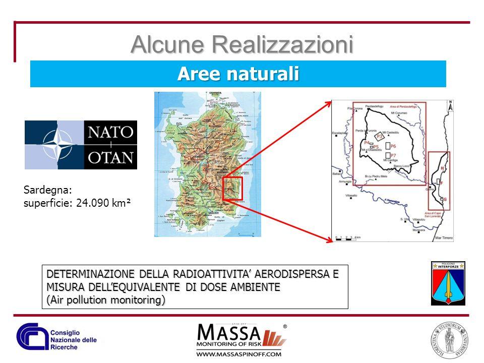 Alcune Realizzazioni Aree naturali Sardegna: superficie: 24.090 km²