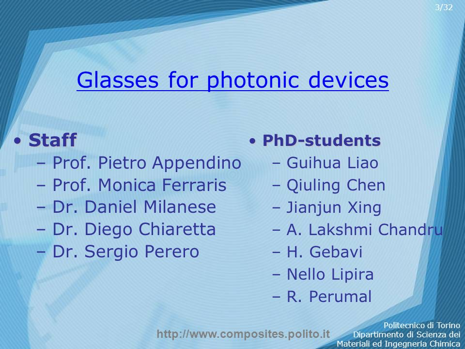 Glasses for photonic devices