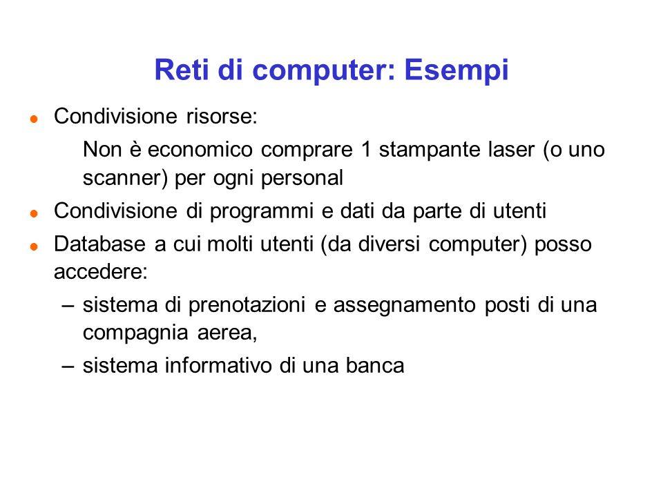 Reti di computer: Esempi