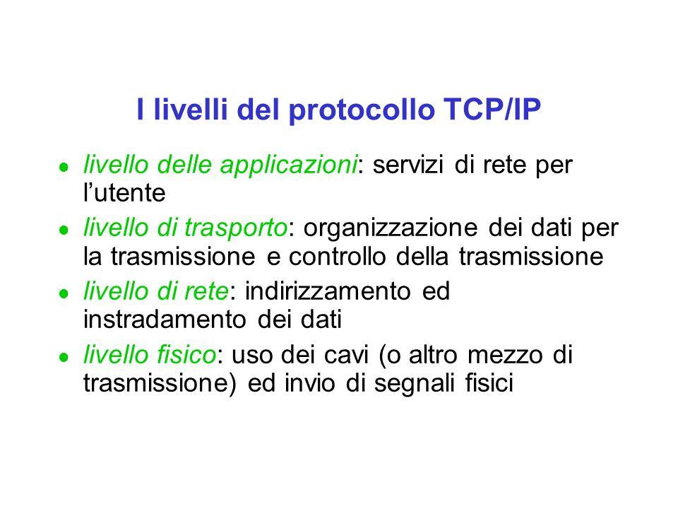 I livelli del protocollo TCP/IP