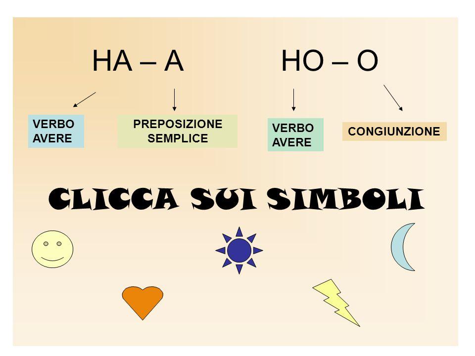 HA – A HO – O CLICCA SUI SIMBOLI