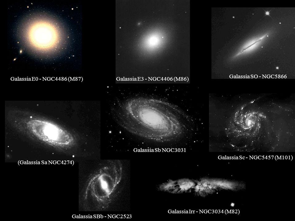 Galassia SO - NGC5866 Galassia E0 - NGC4486 (M87) Galassia E3 - NGC4406 (M86) Galassia Sb NGC303181)