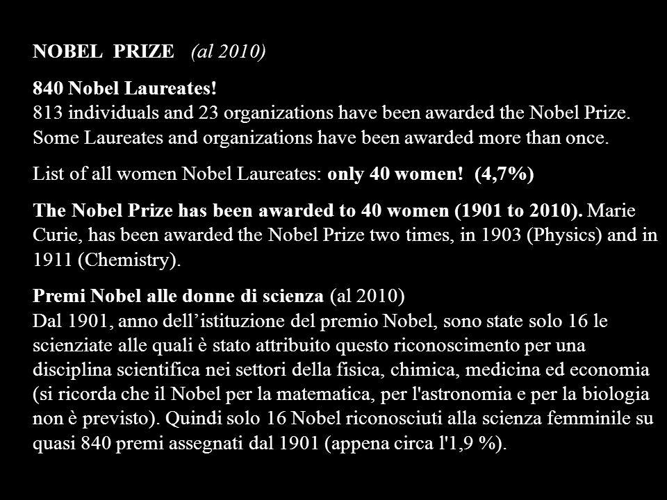 NOBEL PRIZE (al 2010)