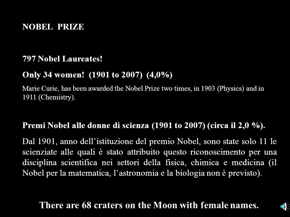 There are 68 craters on the Moon with female names.