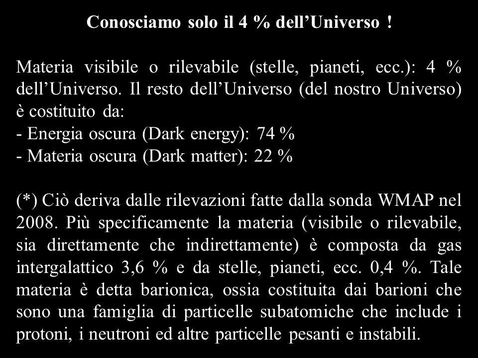 Conosciamo solo il 4 % dell'Universo !