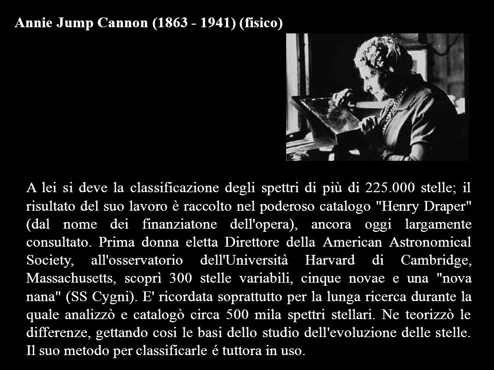 Annie Jump Cannon (1863 - 1941) (fisico)
