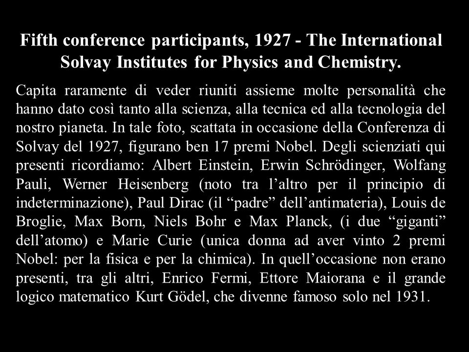 Fifth conference participants, 1927 - The International Solvay Institutes for Physics and Chemistry.