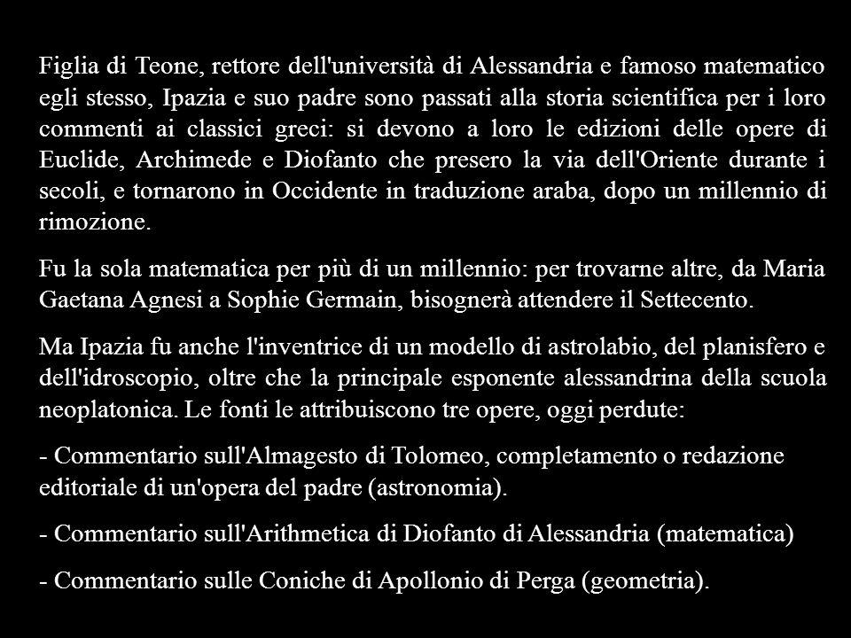 - Commentario sull Arithmetica di Diofanto di Alessandria (matematica)