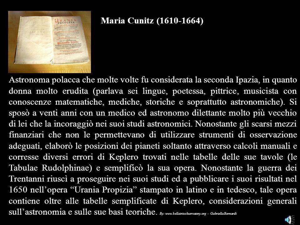 Maria Cunitz (1610-1664)