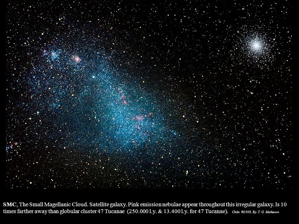 SMC, The Small Magellanic Cloud. Satellite galaxy
