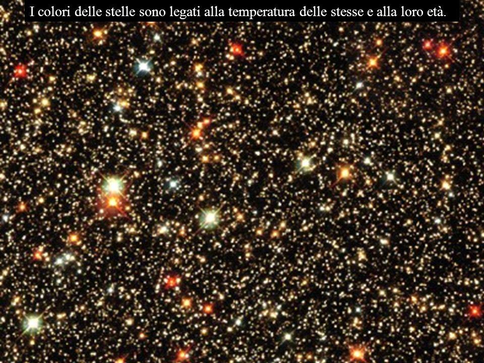 I colori delle stelle sono legati alla temperatura delle stesse e alla loro età.