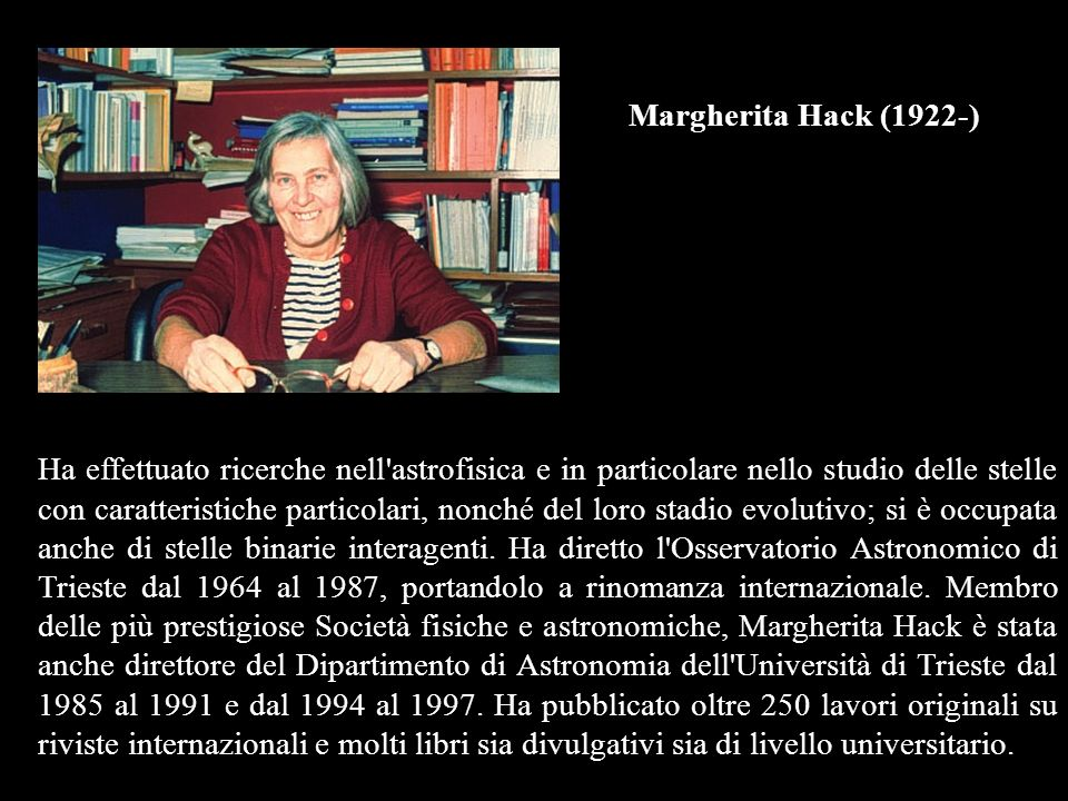 Margherita Hack (1922-)
