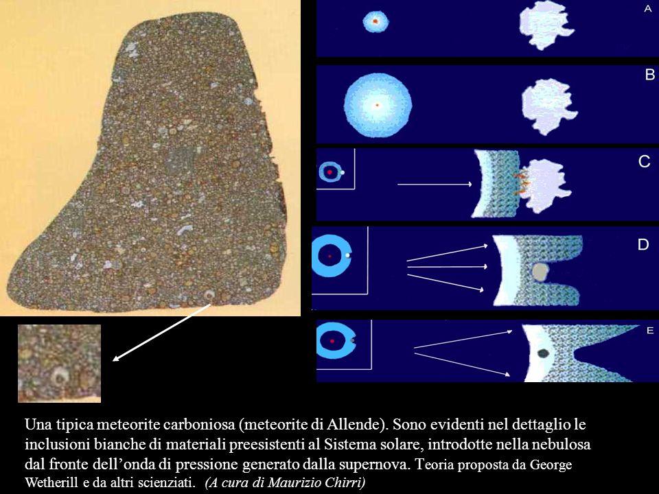 Una tipica meteorite carboniosa (meteorite di Allende)