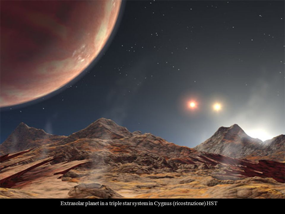 Extrasolar planet in a triple star system in Cygnus (ricostruzione) HST