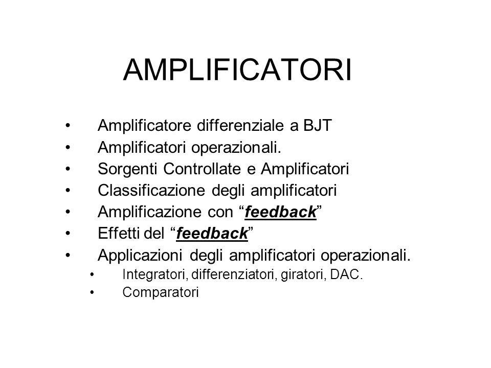 AMPLIFICATORI Amplificatore differenziale a BJT