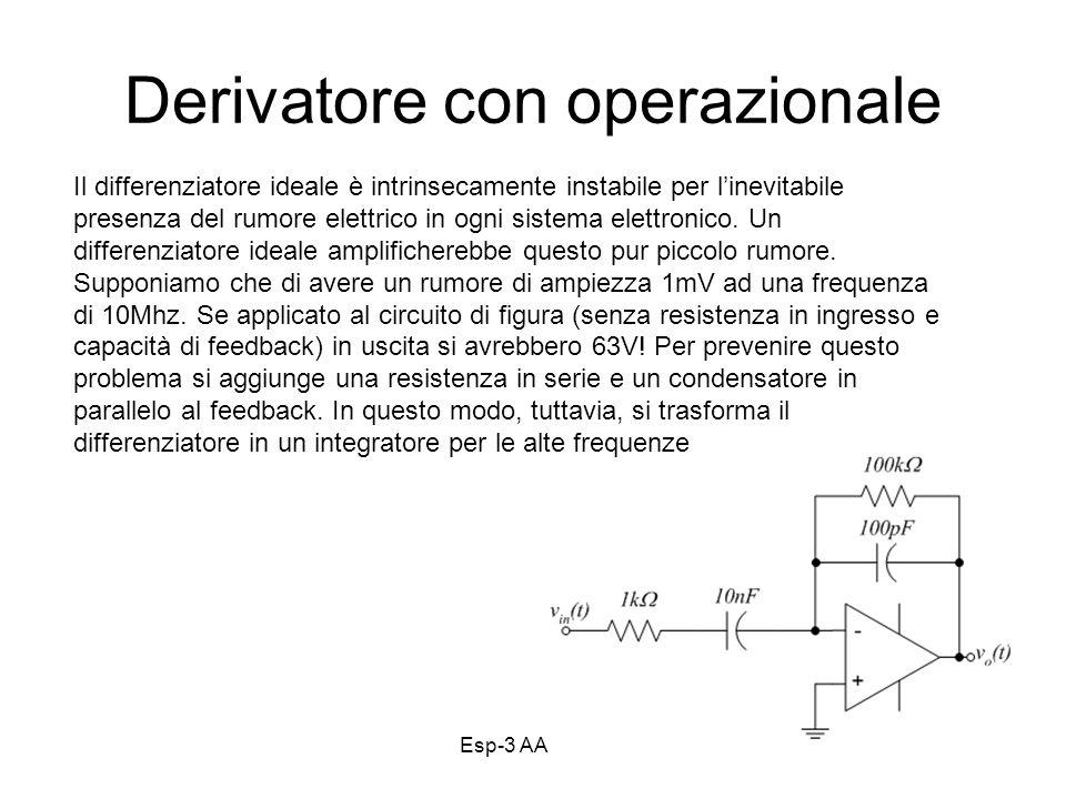 Derivatore con operazionale
