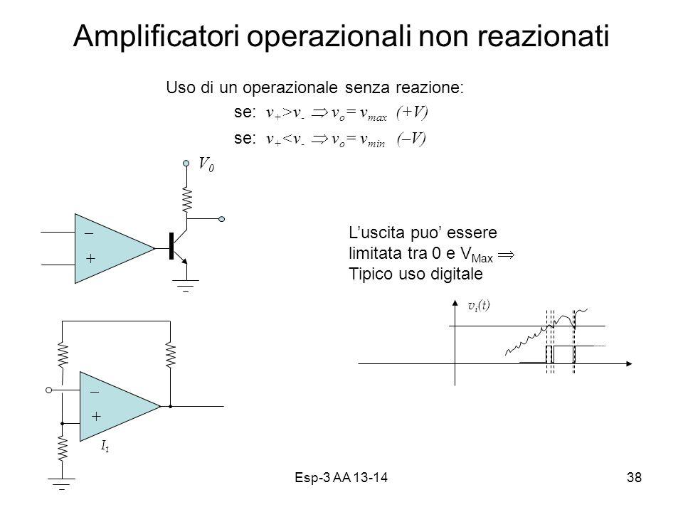 Amplificatori operazionali non reazionati