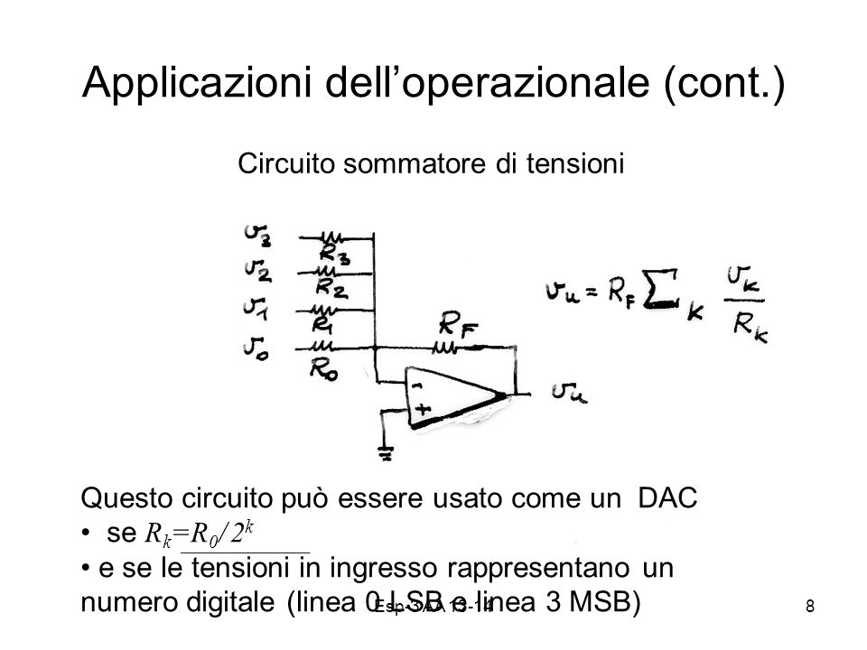 Applicazioni dell'operazionale (cont.)