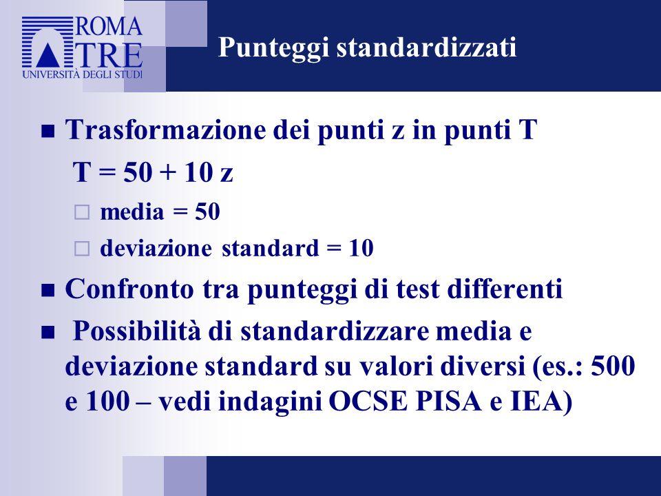 Punteggi standardizzati